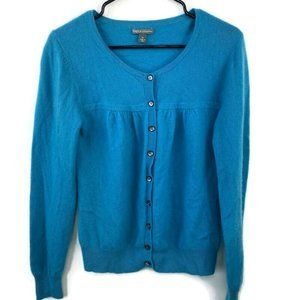 Apt 9 Button Front 100% Cashmere Cardigan